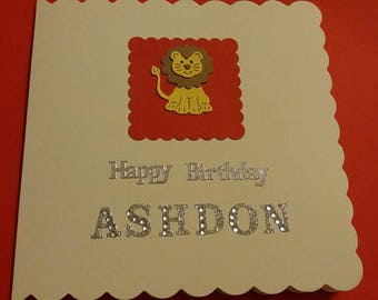 Beautiful Lion Birthday Card