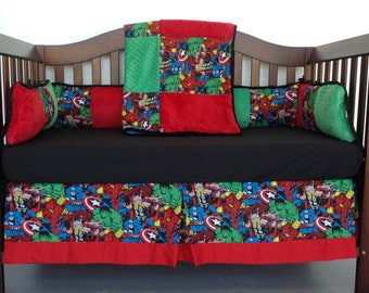 4pc Standard Crib Bedding Set - Marvel 2