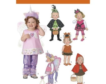 Simplicity Pattern 1774 5- Halloween Costumes for Toddlers