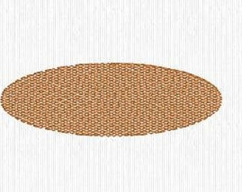 """Knockdown Stitch Oval 1""""x3""""  Embroidery Design Digital File - convo us if you need a different size or shape"""