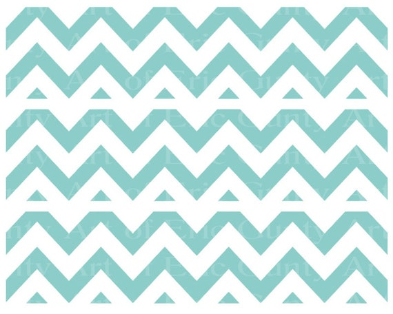 Light Blue Chevron Birthday - Edible Cake Side Toppers- Decorate The Sides of Your Cake! - D22930