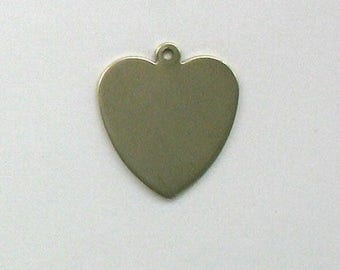 Sterling Silver Large Engravable Heart Charm