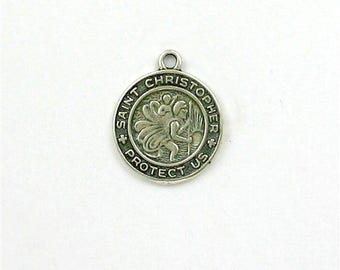 Sterling Silver St. Christopher Medal Charm