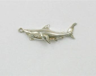 Sterling Silver 12mm Shark Charm