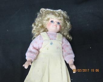 Doll in Yellow Corduroy Dress