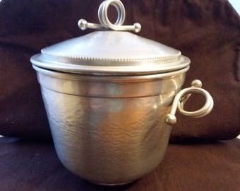 Gailstyn Ice Bucket Hammered Aluminum Ice Bucket