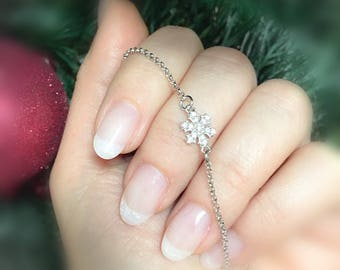 Snowflake bracelet in sterling silver 925