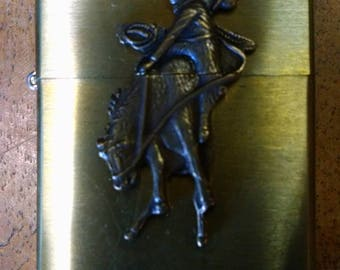Vintage Brass Windproof Lighter, New In Box