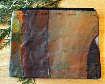 29 CEDARS - large reclaimed canvas zipper pouch