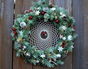 Light up Holiday Dreamcatcher Wreath