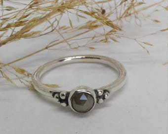 Sterling Silver Medieval Inspired Diamond set Ring
