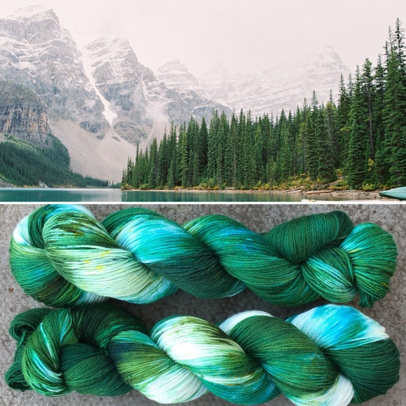 Evergreen, 4ply merino nylon blend indie dyed sock yarn