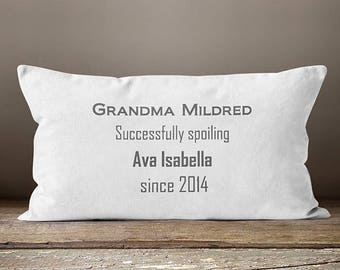 Grandmother Gift, Personalized Gift, Grandma Gift, Grandma, New Grandma, Grandmother, Nana, Nana Gift, Gift Pillow, Pillow