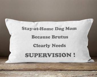 Stay at Home Dog Mom | Dog Mom |  Dog Lover | Dog Mom Gift | Pet Mom | Dog Decor | Animal Lover