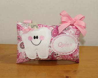 Tooth fairy pillow etsy tooth fairy pillow personalized tooth fairy pillow baby tooth pillow gift under 20 negle Gallery