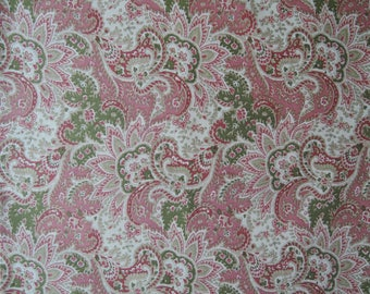 "Half Yard of Kono Sanae Beautiful Victorian Paisley in Pink by Yuwa. Approx. 18"" x 44"" Made in Japan."
