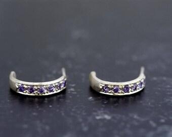 Silver earrings  silver amethyst  earrings