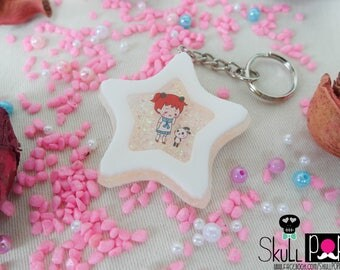 Star Shape Keychain, Sweet, Gift, Resin, Hot Air Balloon