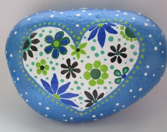 Painted Rock Heart