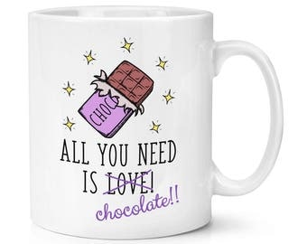 All You Need Is Love Chocolate 10oz Mug Cup
