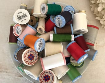 Vintage Thread ~ Sewing Thread * Spools of Thread ~ Colors ~ Sewing Notions ~ Thread ~ Sewing Machine * Crafts