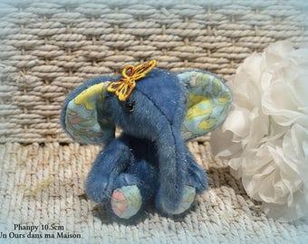 VENDU *** !! Phanpy éléphant d'artiste miniature 10.5cm articulé fait main collection décoration ours miniature