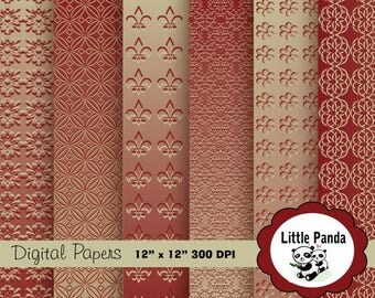 80% OFF SALE Thankful Digital Scrapbooking Papers 6 jpg files 12 x 12 - Instant Download - D172