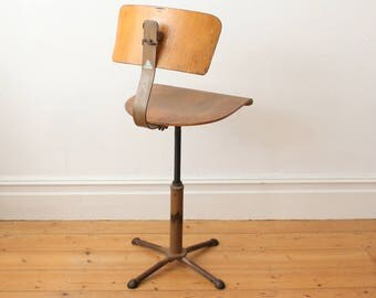 Mid century industrial office chair by Drabert - swivel chair - industrial chair - architects chair - machinist chair - vintage chair