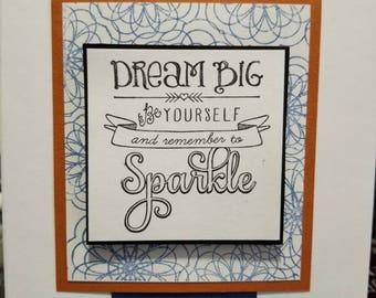 Dream Big & Sparkle Card