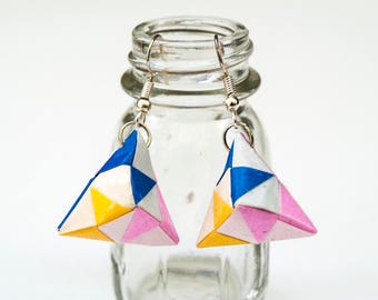 Fractal Toshie's Jewel Origami Earrings