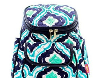 Quilted IKAT Backpack With Free Monogram