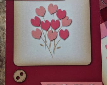 Heart Flower Valentine Card