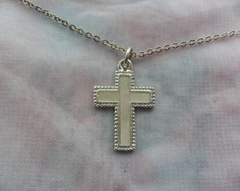 1 Beautiful Mother of Pearl Cross Necklace for special someone