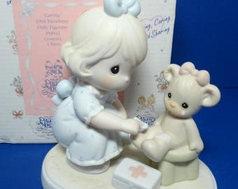 Precious Moments 1994 Members Only Figurine Caring