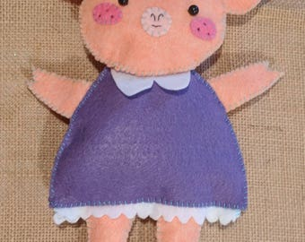 Small Dressy Pig Stuffed Animal