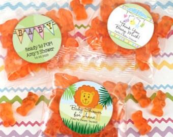 Baby Shower Personalized Gummy Bear Favor Packs - SET OF 24