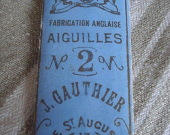 Vintage Sewing needles # French J. Gauthier No 2 # Fleamarketbuzz