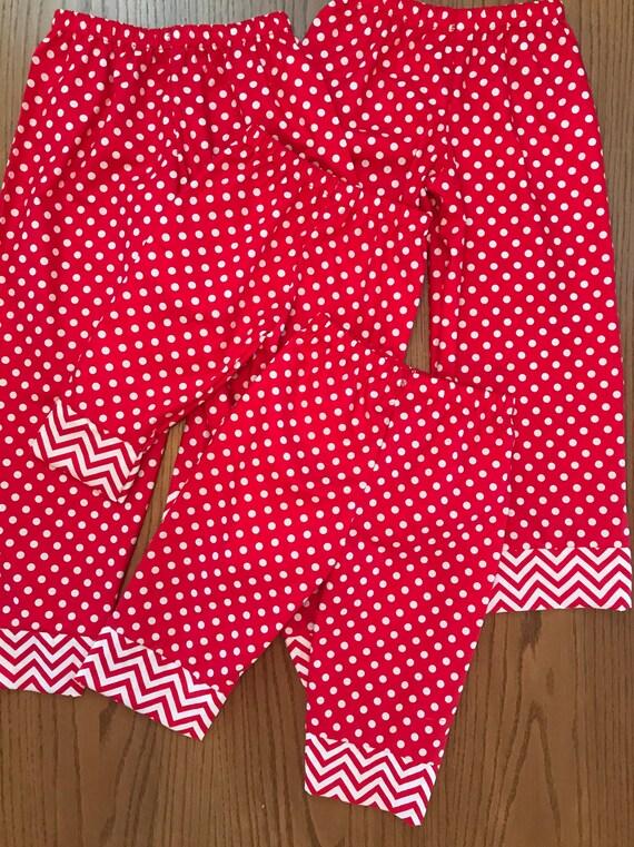 Christmas pajamas,matching Christmas pajamas,Red pajama bottoms,mommy and me,girls Christmas pajama bottoms/womens pajama bottoms