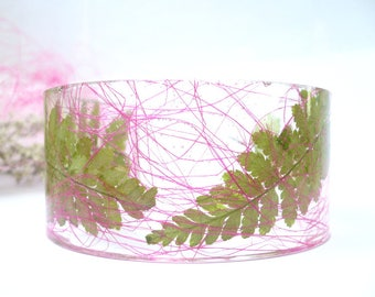 Fern Bracelet Cuff - Botanical Cuff Bracelet - Fern Bangle - Resin Fern Cuff - Floral Resin Bangle - Real Flower Bangle - Gift For Her