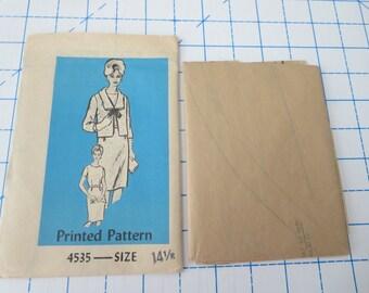Printed Pattern 4535 Dress & Jacket size 14.5