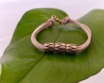 Gold & stone coloured, modern, minimalist bracelet, perfect gift for friend, small/ medium size