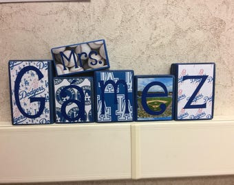 Teacher's Name blocks - Los Angeles Dodgers theme