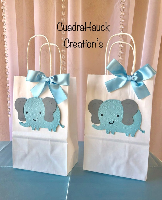 Favor Bags Elephant Favor Bags Baby Shower Favor Bags Elephant