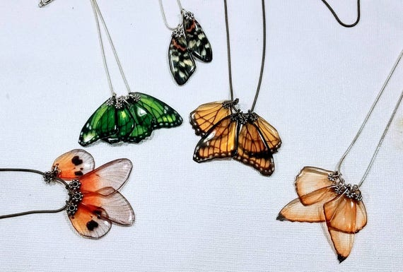 Cluster of Butterfly Wings - 5 Necklaces