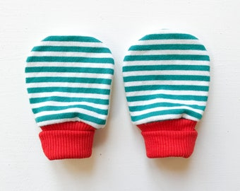 magic baby mitts   elf stripe