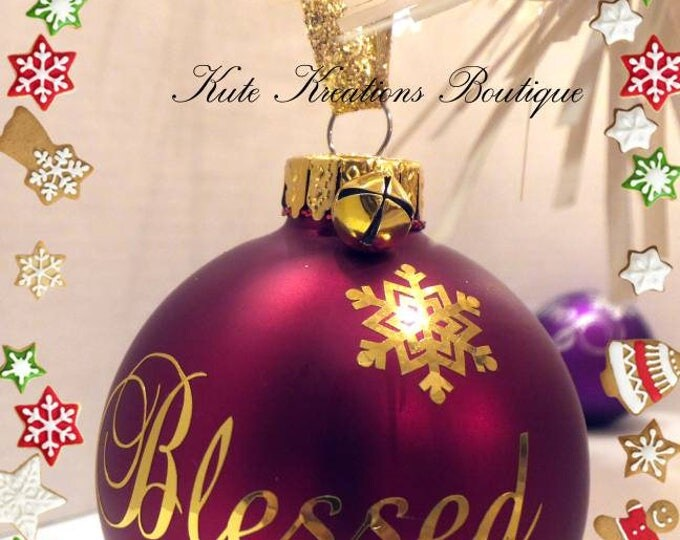 Christmas Ornaments/Peace, Joyful, Blessed Christmas Ornaments/Merry and Bright.