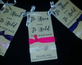 Bridesmaids Thank-You-Gift To Have and To -Hold- Hair-Tie-Set-of-3-Get-ready-to-dance