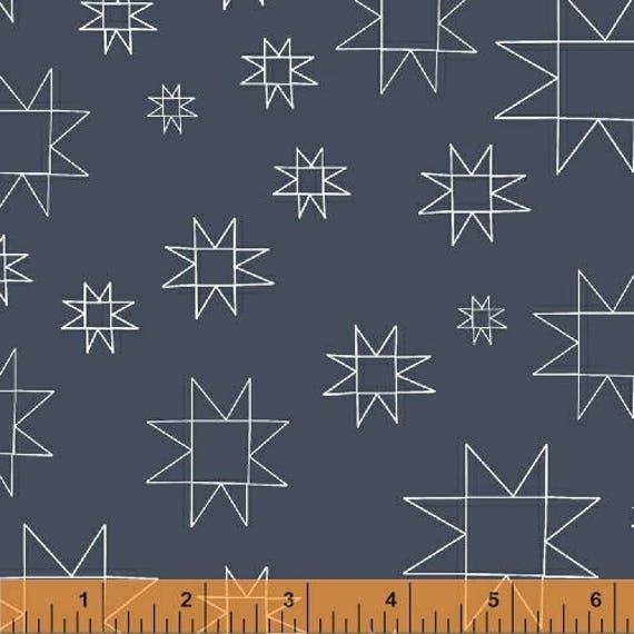 Daisy Chain by Annabel Wrigley for Windham Fabrics - Star in Slate