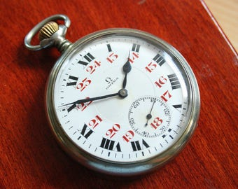 OMEGA Pocket Watch Antique 1900s -  Swiss Made -