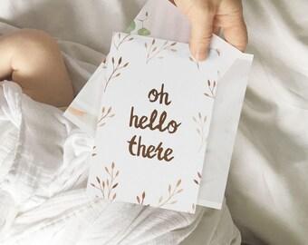 Terra Cotta Laurel Baby Milestone Cards {nb - 2yo} Instant Download
